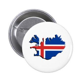 Ísland , Iceland, 2 Inch Round Button