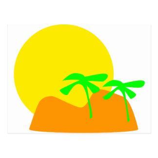 island icon postcard