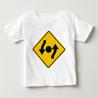 Island in Intersection Highway Sign Tshirts