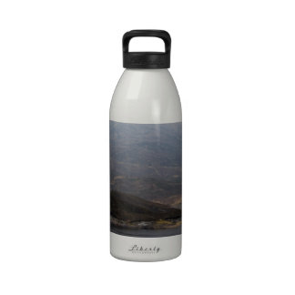 Island in middle of Loch and rugged outdoor Reusable Water Bottle