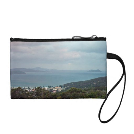 Island in the drizzle coin purses