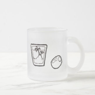 """""""Island In The Shot"""" Frosted Glass Coffee Mug"""
