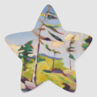 Island Landscape Painting Sticker
