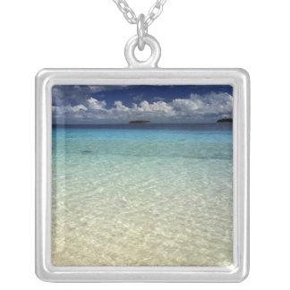 Island landscape, Vava'u Island,Tonga Silver Plated Necklace