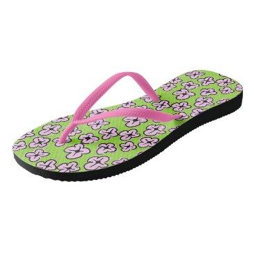 Beach Themed Island Life Adult, Slim Strap Flip Flops