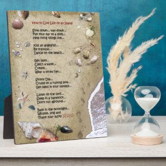 Island Life Plaque