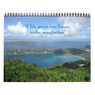 Island Living Wall Calendar