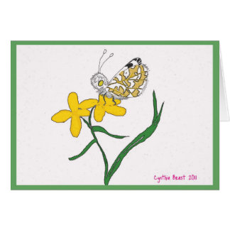 Island Marble Butterfly Card
