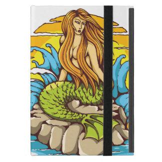 Island Mermaid With Tribal Sun Tattoo Style Art Case For iPad Mini