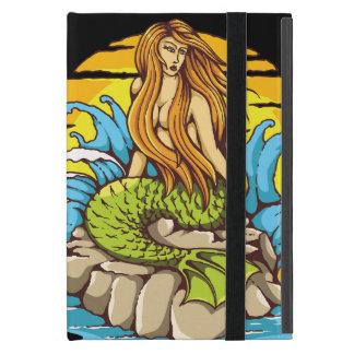 Island Mermaid With Tribal Sun Tattoo Style Art Cover For iPad Mini
