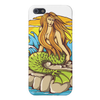 Island Mermaid With Tribal Sun Tattoo Style Art iPhone SE/5/5s Case