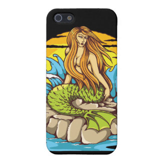 Island Mermaid With Tribal Sun Tattoo Style Art iPhone SE/5/5s Cover
