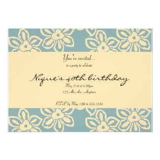 Island Noise in Stormy Blue Invitation