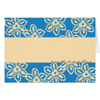 Island Noise Note Card in Carribean Blue