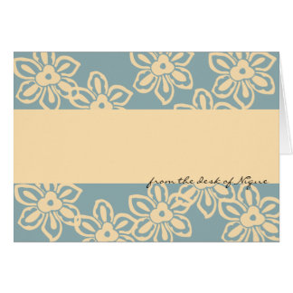 Island Noise Note Card in Stormy Blue