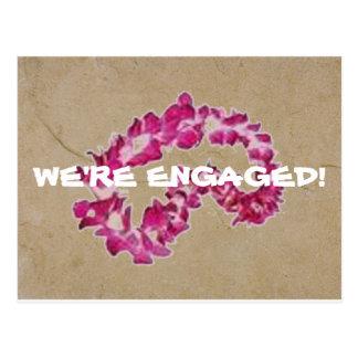 Island Nuptials-Engagement Announcement Postcard