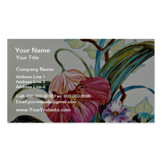 Island of beauty Yellow flowers Business Card Template