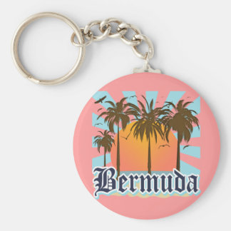 Island of Bermuda Souvenirs Basic Round Button Keychain