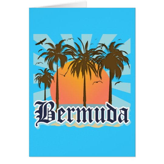 Island of Bermuda Souvenirs Card