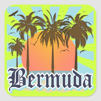 Island of Bermuda Souvenirs Square Sticker