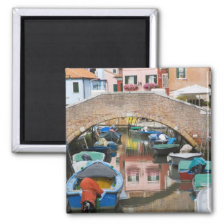 Island of Burano, Burano, Italy. Colorful 2 Inch Square Magnet