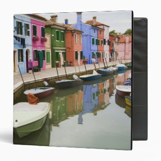 Island of Burano, Burano, Italy. Colorful 4 Binder