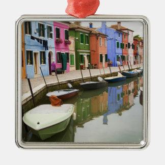 Island of Burano, Burano, Italy. Colorful 4 Metal Ornament