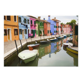 Island of Burano, Burano, Italy. Colorful 4 Photo Art