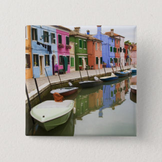 Island of Burano, Burano, Italy. Colorful 4 Pinback Button