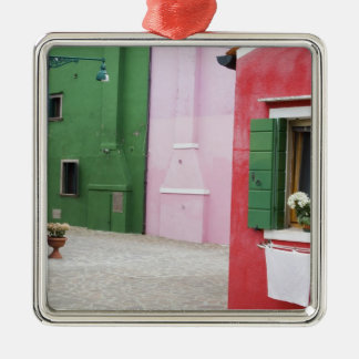 Island of Burano, Burano, Italy. Colorful Burano 2 Metal Ornament