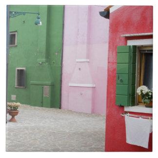 Island of Burano, Burano, Italy. Colorful Burano 2 Tile