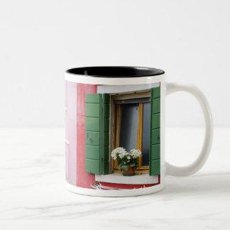 Island of Burano, Burano, Italy. Colorful Burano 2 Two-Tone Coffee Mug