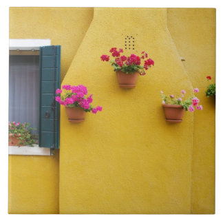Island of Burano, Burano, Italy. Colorful Burano 3 Ceramic Tile