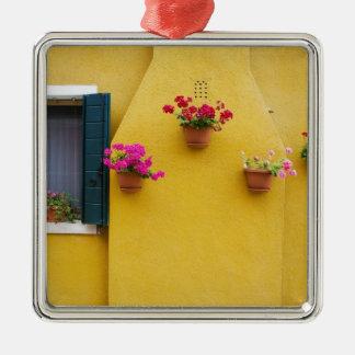 Island of Burano, Burano, Italy. Colorful Burano 3 Metal Ornament