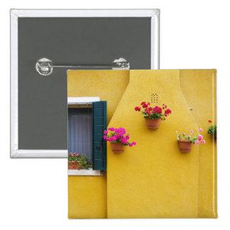 Island of Burano, Burano, Italy. Colorful Burano 3 Pinback Button