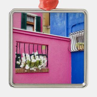 Island of Burano, Burano, Italy. Colorful Burano Metal Ornament