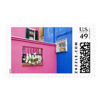 Island of Burano, Burano, Italy. Colorful Burano Postage