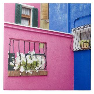 Island of Burano, Burano, Italy. Colorful Burano Tile