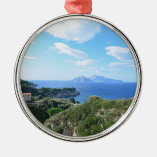 Island of Capri Metal Ornament