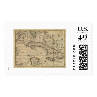 Island of Cuba Map - 1762 Postage