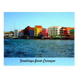 Island of Curacao Designed by Admiro Postcard