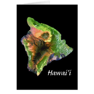 Island of Hawaii from Space  Landsat Image Greeting Cards