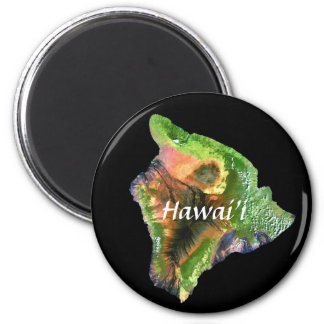 Island of Hawaii from Space  Landsat Image Magnet