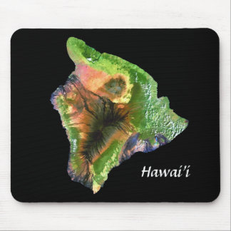 Island of Hawaii from Space  Landsat Image Mouse Pad