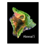 Island of Hawaii from Space  Landsat Image Post Card