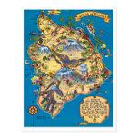 Island of Hawaii Funny Map Postcard