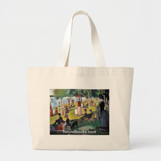 Island of La Grande Jatte with Wimsey Bloodhound Large Tote Bag