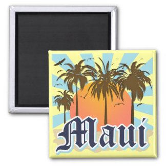 Island of Maui Hawaii Souvenir 2 Inch Square Magnet