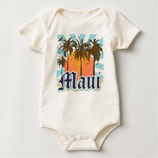 Island of Maui Hawaii Souvenir Baby Bodysuit
