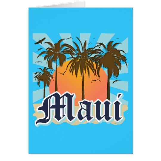 Island of Maui Hawaii Souvenir Card